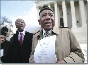 Otis Clark & Charles Ogletree, Jr. on Supreme Court Steps