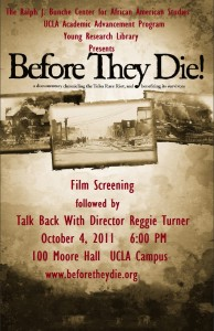Before They Die! Screening UCLA 10-04-11